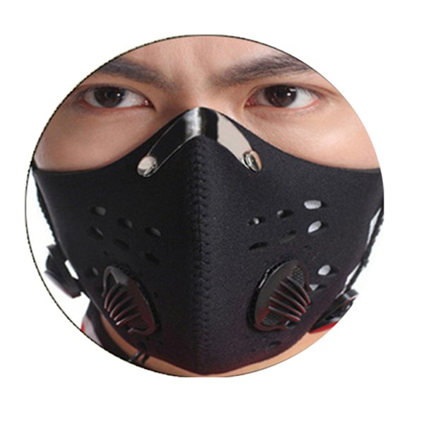 Wholesale- Hot Sale Black Anti-fog Dust Mountain Bike Bicycle Cycling Outdoor Sports Activated Carbon Dust Mask for men/women
