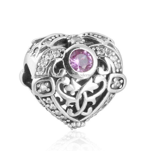 Coeur charmes authentique S925 en argent sterling correspond pour pandora bracelets livraison gratuite H9