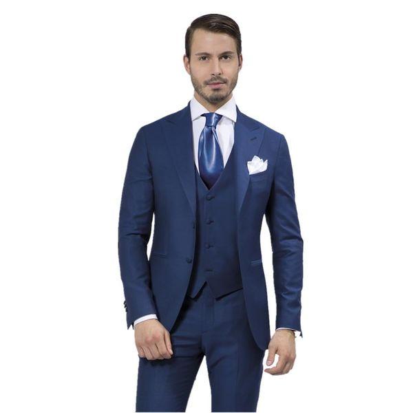 2015 Navy blue Wedding Suits For Men Groomsmen Tuxedos(Jacket+Pants+ ...