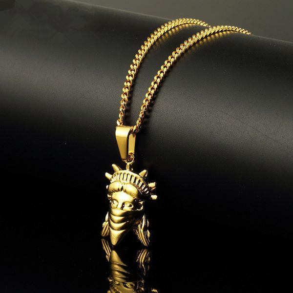 Fashion Men Hip Hop Jewelry Figure Pendant Necklaces Personalized Design 60cm Long Link Chain Rock Micro Necklace For Mens