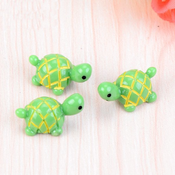 Artificial Cute Green Tortoise Animals Fairy Garden Miniatures Mini Moss Terrariums Resin Crafts Figurines DHL Shipping Free