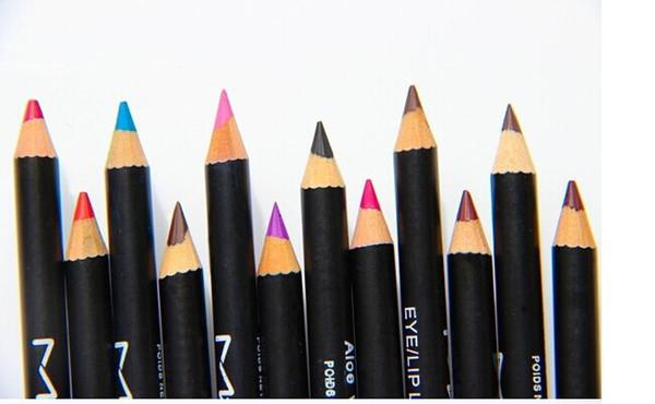ücretsiz kargo- yeni sıcak makyaj göz / dudak kalemi kalem kaş kalemleri 12 farklı renk (36pcs / lot)