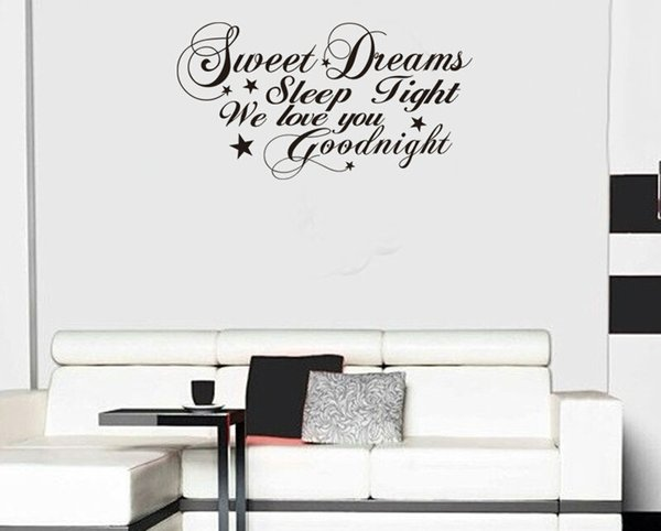 sweet dreams good night quote wall stickers home decorations diy removable vinly wall decals bedroom wall decals