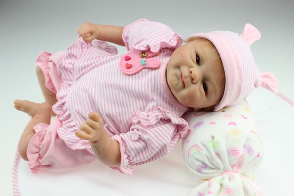 "top popular 18""45cm reborn baby girl doll gentle touch newborn 2021"