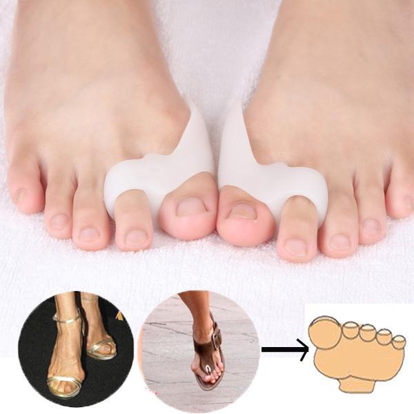 1Pair Feet Care Cura dei piedi a due fori Plantari per alluce valgo Separatore per le dita del piede correttivo Solette Prodotto per la cura della salute