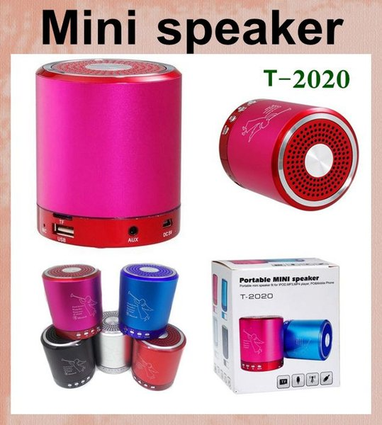 Hoparlör taşınabilir mini hoparlör kutusu amplifikatör hoparlörler subwoofer T 2020 fm radyo ile müzik melek 2.0 hoparlör açık hoparlör MIS050
