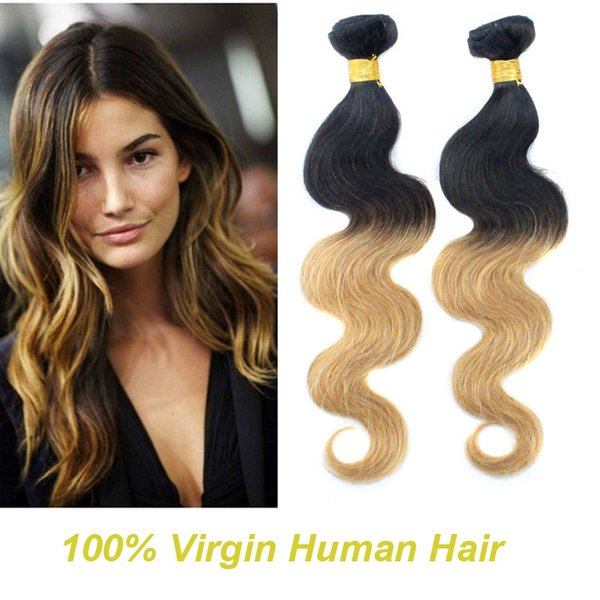 Ombre Hair Extensions Two Tone Blonde 1b27 Best Ombre Brazilian