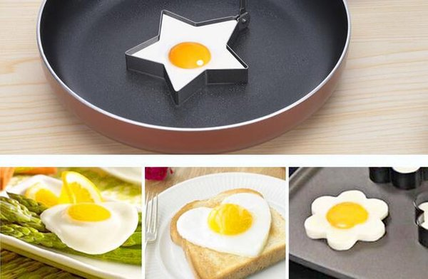 New Arrive Stainless Steel Egg Shaper Egg Mold Cooking Tools Pancake Molds Ring Heart Flower Kitchen Gadget