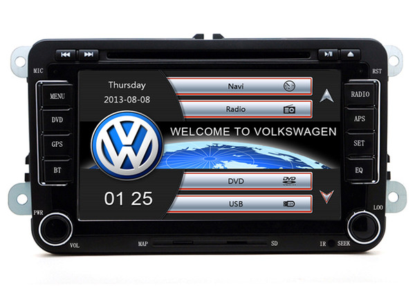 Fast shipping 2Din RS510 VW Car DVD Built-in GPS Navigation Bluetooth MP3/MP4 1080P play for Volkswagen GOLF 5/6