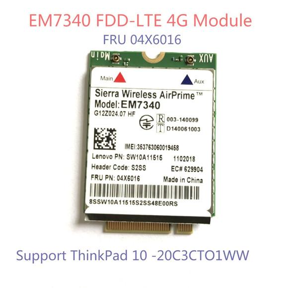 best selling Freeshipping EM7340 4G LTE Card FDD-LTE 4G Module FRU 04X6016 HSPA + For ThinkPad 10