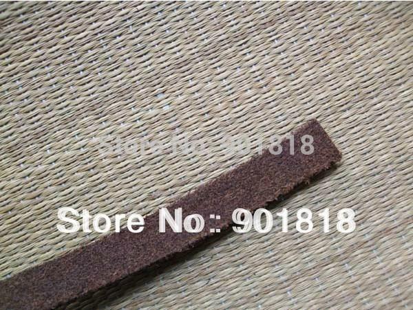 All'ingrosso-5 metri / lotto 10 millimetri di larghezza braccialetto di corda in pelle genuina cavo piatto in pelle accessori F660