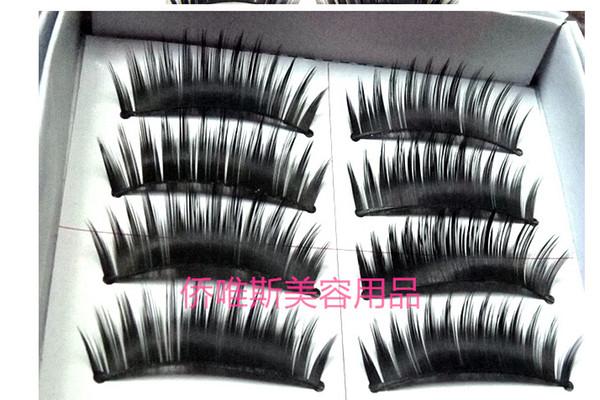 Wholesale-5box= 50 pairs/box Naturalfalse artificial eyelashes Handmade deep black eye makeup necessary False eyelash