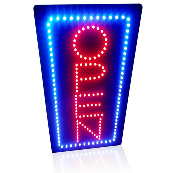 """Wholesale-19""""x9.5"""" Animated Motion led sign board OPEN led Neon sign flashing and change colors led sign board On/off Switch for"""