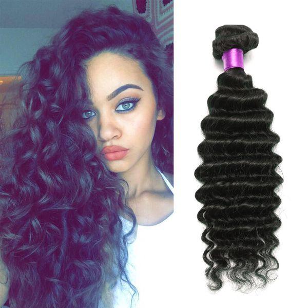 Brazilian Deep Wave Tight Curly Brazilian Virgin Hair Extension 6A Unprocessed Human hair Weave Free Shipping Brazilian kinky curly hair
