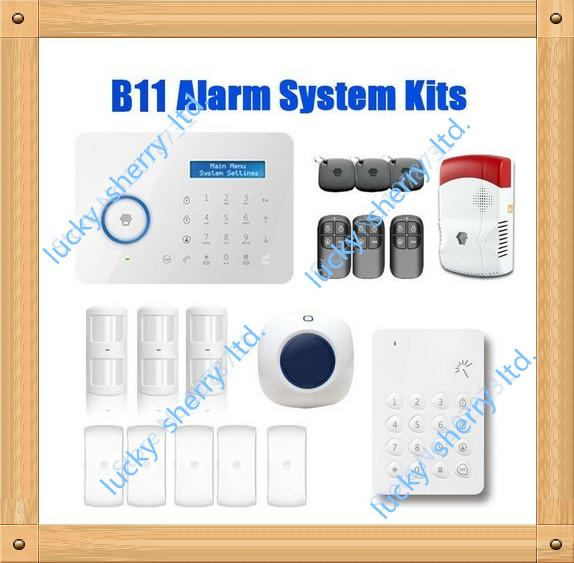 Chuango B11 Smart House Wireless Touch Keypad GSM Phone SMS SIM CARD / PSTN Home Security Burglar Alarm System