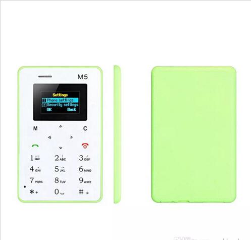 Hot selling 4.8MM Ultra-thin AEKU M5 Special Card Cell Phone Chipset(MTK) Bar GSM Color Screen Mutilanguage