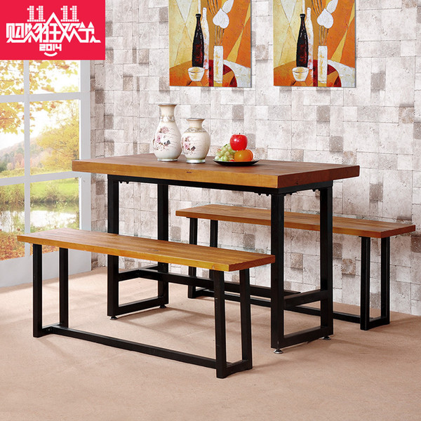 Cheap computer desk desk combination rectangular dining table set furniture home office furniture
