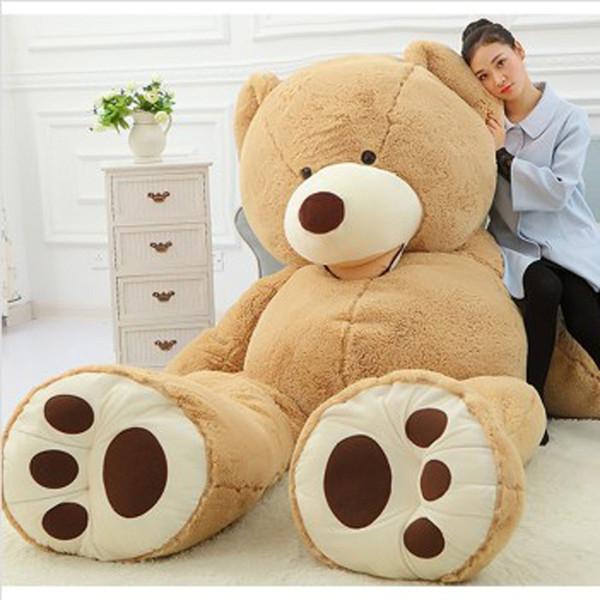 "EMS 1PCS 11 FEET TEDDY BEAR STUFFED LIGHT BROWN GIANT JUMBO 134"" size:3.4m birthday gift"
