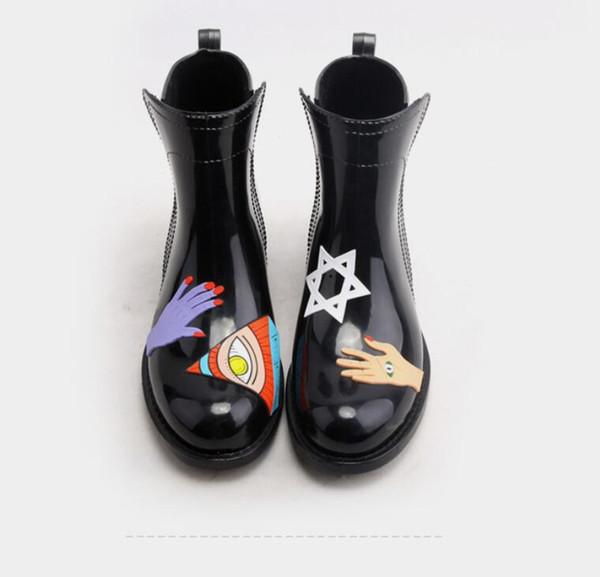 Neue 2017 Kinder Gummistiefel Cartoon Kinder Regen Stiefel