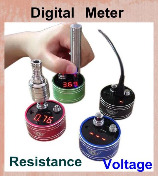 Dijital Ohm Metre Direnci Checker T98 Gerilim Okuyucu Cihazı DIY Atomizerler için Güvenle Yapı ecig pil LEDizer için LED Ekran FJ102