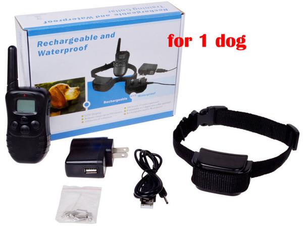 Recarregável e Impermeável 300 Metros Remoto Pet Training Collar com Display LCD com 1 colar para 1 cão 998DR1 20 pçs / lote