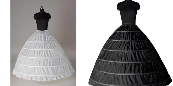 Super Günstige Ballkleid 6 Hoops Petticoat Hochzeit Schlupfkrinoline Braut Unterrock legt Slip 6 Hoop Rock Krinoline für Quinceanera Kleid