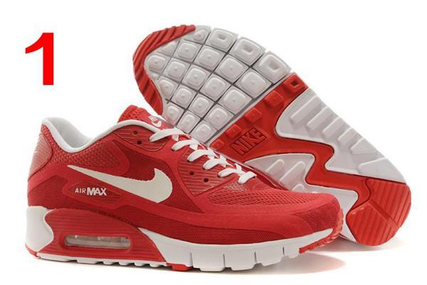Großhandel Nike Air Max 90 Br All Black Men Laufschuhe Günstige Outdoor Sportschuhe Breath Schwarz Blau Rot Airmax Tennis Sportschuhe Der Neuen