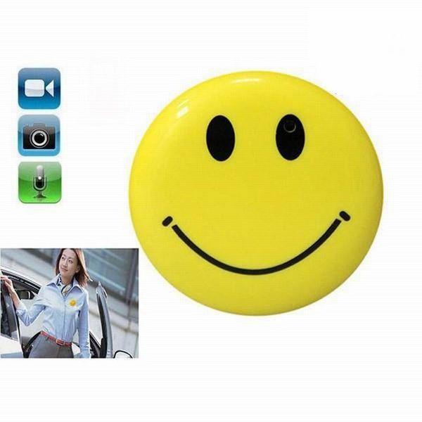 Горячая распродажа Smile Face Mini Camera с клипсой 720P Mini DV Видеокамера Smile Camera Цифровой видеорегистратор Mini DVR USB-диск ПК веб-камера