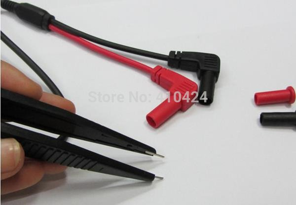 5pcs/lot LCR SMD Test Clip Probe Multimeter Tweezer order<$18no track