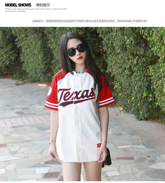All'ingrosso-2016 nuova estate hip hop sport moda t shirt da baseball stile coreano sciolto unisex uomo donna tee top marea mujeres camiseta