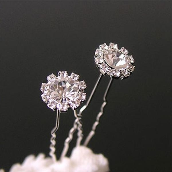 High Quality Clear U Shape Crystal Wedding Bridal Hair Pin Unqiue Sparkly Hair Accessories Free Shipping Hair Fashion Bride Bridesmaid Clip