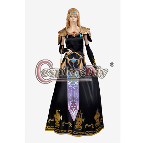 Legend of Zelda Twilight Princess Fancy Dress Zelda Adult Womenu0027s Cosplay Costume Custom Made(includes  sc 1 st  DHgate.com & Legend Of Zelda Twilight Princess Fancy Dress Zelda Adult Womenu0027S ...