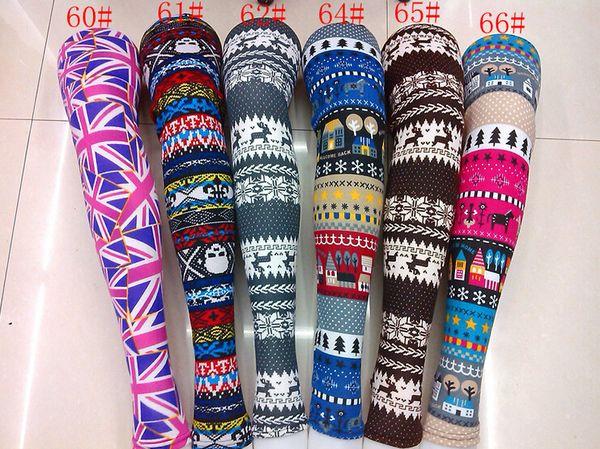 best selling 50pc Snowflake Christmas deer Leggings Graffiti Printed Leggings cashmere knit cotton leggings spring
