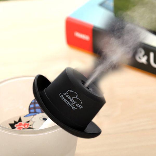 Moda Mini USB Cowboy Cap humidificador portátil DC 5 V oficina atomizador difusor de aire del coche fabricante de niebla con filtros absorbentes
