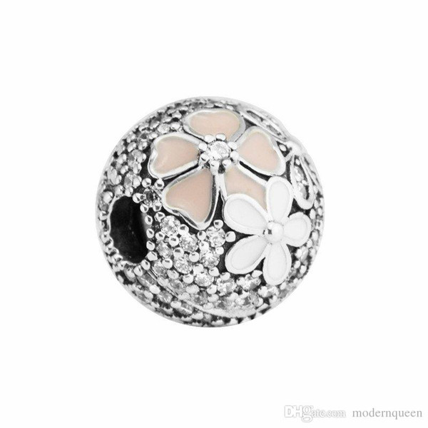 Clip beads silver 925 fits for pandora Jewelry bracelets S925 sterling silver free shipping H7 Poetic Blooms Charm