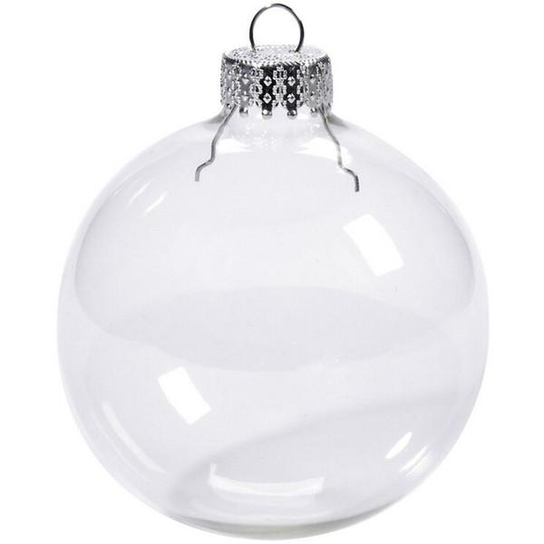 "best selling Wedding Bauble Ornaments Christmas Xmas Glass Balls Decoration 80mm Christmas Balls Clear Glass Wedding balls 3""   80mm Christmas Ornaments"