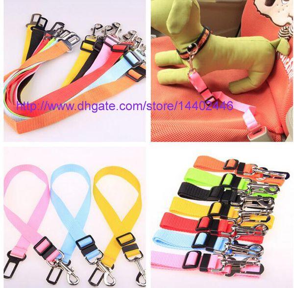 top popular 200pcs New Dog Pet Car Safety Seat Belt Seat Clip Seatbelt Harness Restraint Lead Adjustable Leash Travel Collar 2020