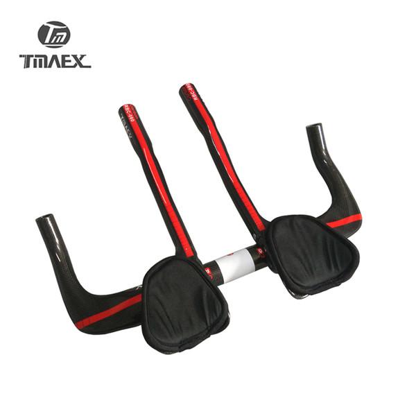 TMAEX-080 100% Carbon Fiber Racing TT Rest Handlebar With TT Extention Bar Road Carbon TT Bar 3K Glossy 480g