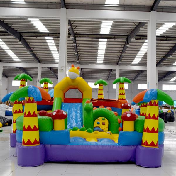AOQI inflatable fun city inflatable Giraffe fun city inflatable fun land for kids for sale made in China