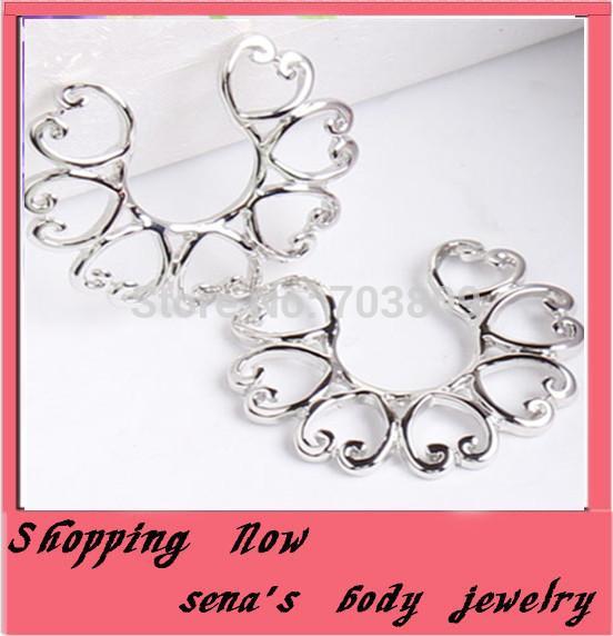 Punk Steel Shield Nipple Ring Body Piercing Jewelry New Heart Copper Non Piercing