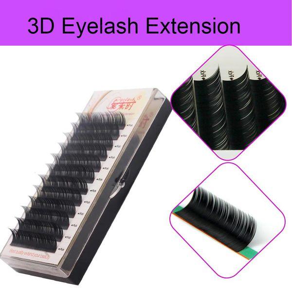 Wholesale- All Sizes Natural Soft Silk Hand Made KoreanFalse Eyelash Extension Fake Eye Lashes eyelashes 3D Individual With Free Shipping