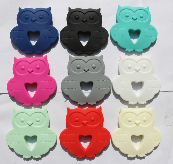 Owl Pendant Silicone Teething Necklace Nursing Necklace Baby owl pendant necklace