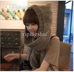 Las bufandas de lana doble-gruesas de las bufandas del invierno de las mujeres coreanas especiales del envío al por mayor-libre del sombrero N73