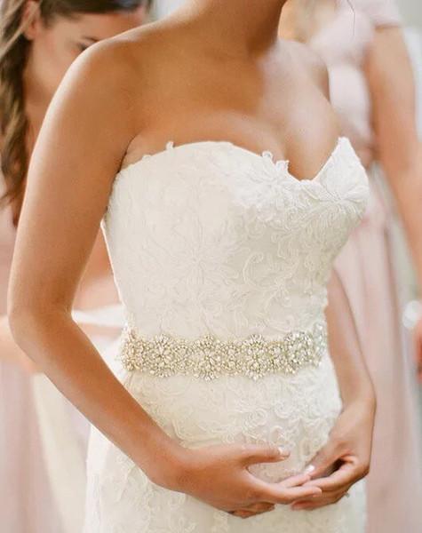 Lusso lungo raso con perle di cristallo affascinante cintura cinture da sposa per abiti da sposa di alta qualità fatti a mano accessori da sposa unici a buon mercato