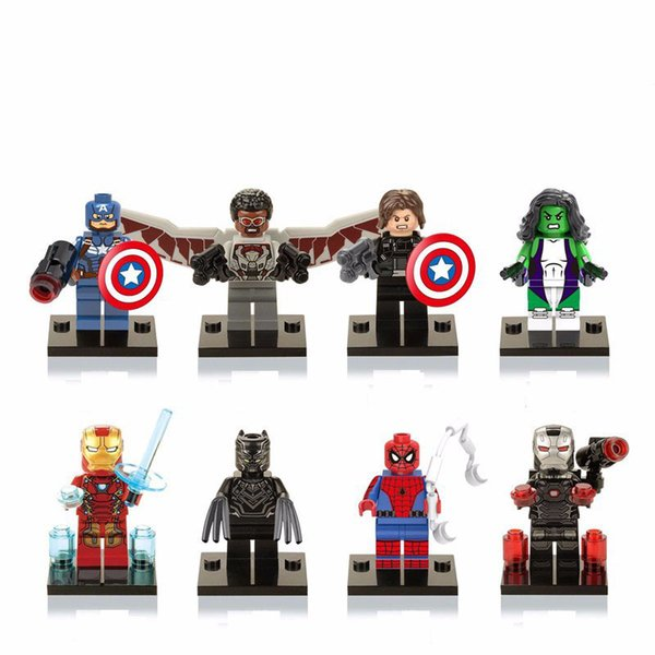 New LEGO Minifigure Marvel Superhero Winter Soldier Captain America