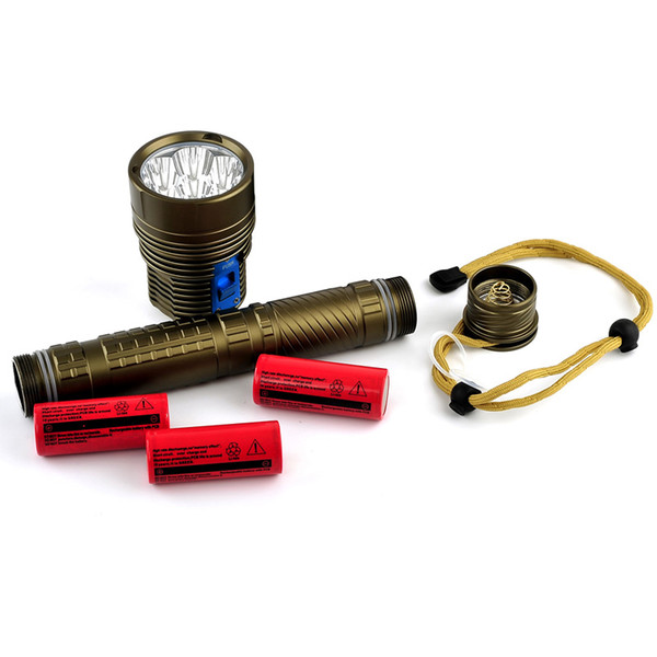 DHL Free Shipping Skyray DX7 Plus Diving Flashlight 150m Underwater 7x CREE XM-L L2 Scuba Diver Lanterna Torch +3x26650 battery+ Charger