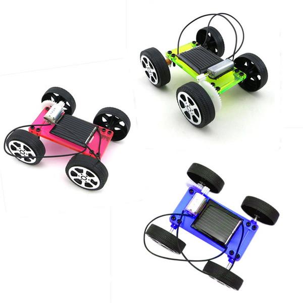 высокое качество набор CS3AB мини солнечной энергии игрушка DIY автомобильный комплект дети образовательные гаджет хобби смешно