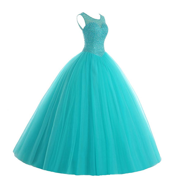 Großhandel Royal Blue Quinceanera Kleid Pailletten Friesen Ballkleid ...