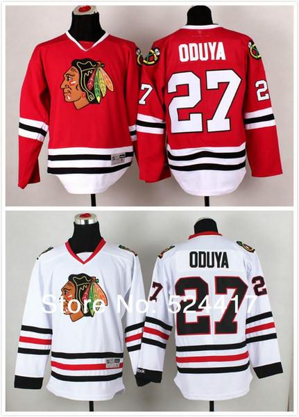 30 Teams-Wholesale stitched 2014 new Chicago Blackhawks 27# Johnny Oduya Ice Hockey Jersey / Brandon Saad hockey shirt