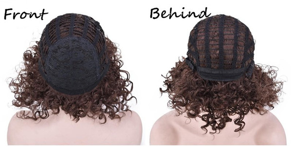 ombre color synthetic wig KINKY CURLY Micro braid wig african american braided wigs brazilian hair wigs 18inch short curly synthetic wigs